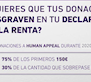 Tus donaciones desgravan