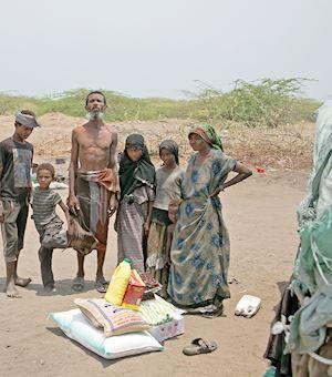 Packs de alimentos para Yemen
