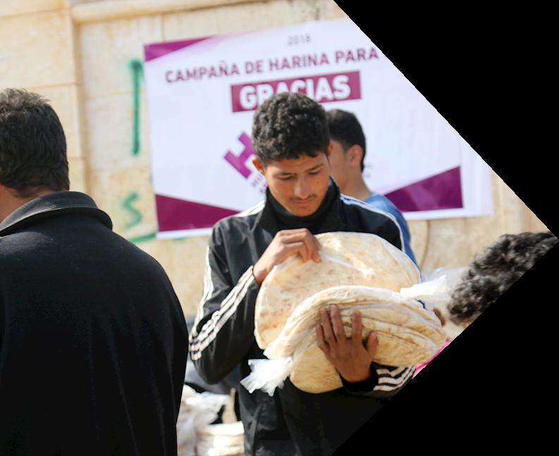 Reparto de pan a desplazados Sirios | 2018