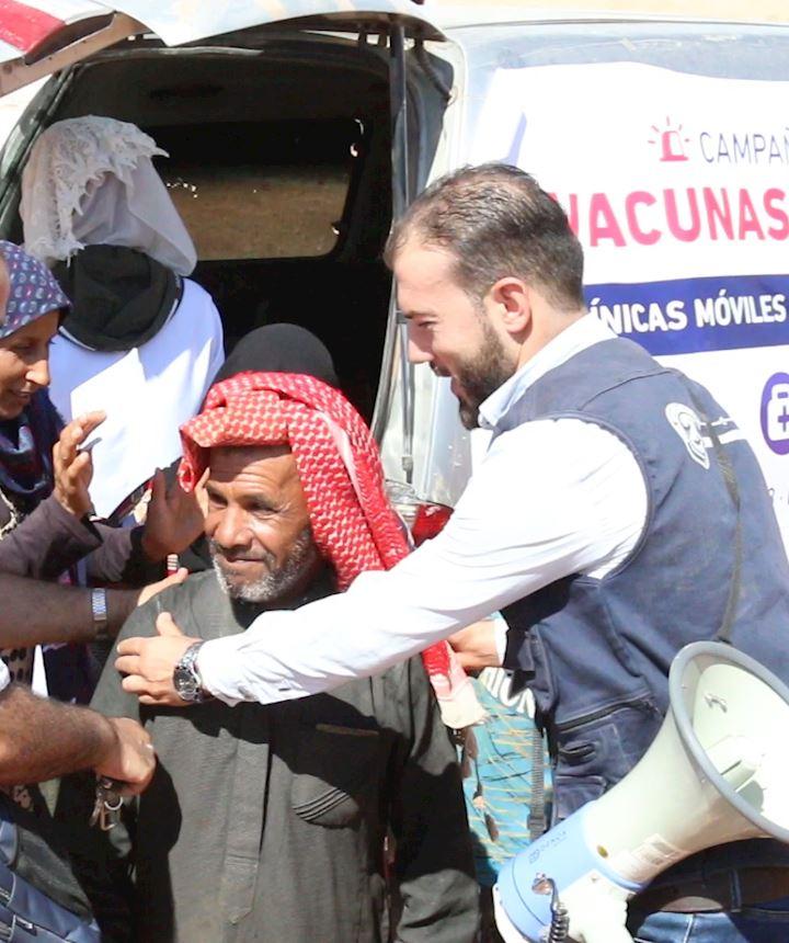 Clínica móvil - vacunas para Siria