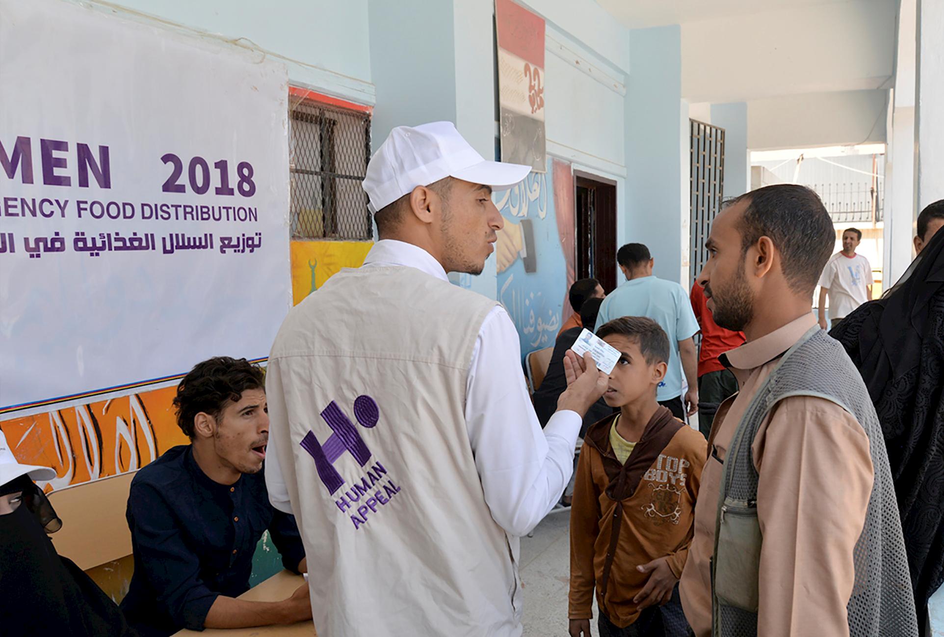 Ayuda a desplazados en Yemen